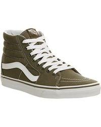 3f4ba5e5b0 Lyst - Vans Sk8 Hi Grape Leaf Green Men s Shoes (high-top Trainers ...