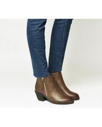 Office - Brown Anita Side Zip Western Mid Boots - Lyst