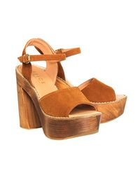 Office - Brown Porter Chunky Heel Sandal - Lyst