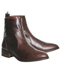 Office Brown Ashleigh Flat Ankle Boots