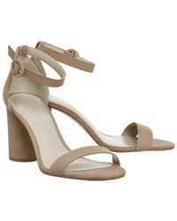 Office - Natural Henna Cylindrical Block Heels - Lyst