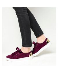 Office - Red Adore Metallic Detail Trainer - Lyst