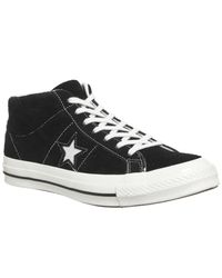 Converse - Black One Star Mid for Men - Lyst