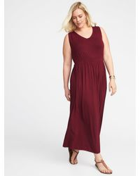 33fe4a11d3 Lyst - Old Navy Empire-waist Plus-size V-neck Maxi Dress in Red