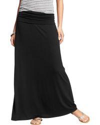 dcd88e0a56 Lyst - Old Navy Women's Rollover-waist Maxi Skirts in Black