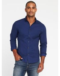 Lyst - Old Navy Slim-fit Built-in Flex Everyday Oxford Shirt in Blue ... 32d2b7c6b