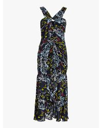 Tanya Taylor - Blue Sancia Floral Vines Print Dress - Lyst