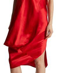 Zero + Maria Cornejo - Red One Shoulder Loop Dress - Lyst