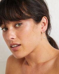 Oliver Bonas - Metallic Casey Nugget Drop Silver Earrings - Lyst