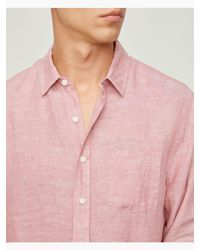 Onia | Pink Abe Linen Shirt for Men | Lyst