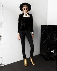 Saint Laurent Black Andalusian Hat