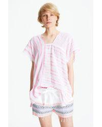 Lemlem - Pink Alfie Spliced Tunic - Lyst