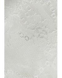 d4edd4ced67ef Lyst - La Perla Tuberose Off-white Leavers Lace Triangle Bra in White