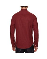 Original Penguin - Red Pigment Woven Shirt for Men - Lyst