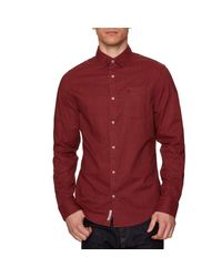 Original Penguin - Red Pigment Woven Shirt for Men - Lyst