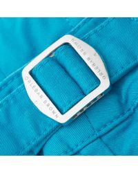 Orlebar Brown - Blue Bulldog Cotton Twill Azure Mid-length Short for Men - Lyst