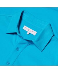 Orlebar Brown - Blue Sebastian Körperbetont Geschnittenes Pikee-polo In Azure for Men - Lyst