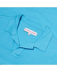 Orlebar Brown - Blue Felix Slub Resort-polo In Light Azure for Men - Lyst