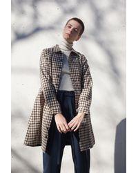 Visvim | Impressionist Coat Dress In Check Brown | Lyst