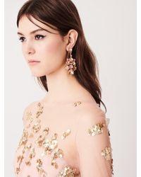 Oscar de la Renta - Metallic Bold Crystal Earrings - Lyst