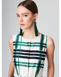 Oscar de la Renta - Green Long Silk Tassel Earrings - Lyst