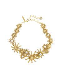 Oscar de la Renta | Multicolor Bold Pearl Sun Star Necklace | Lyst