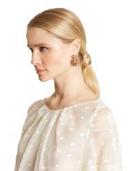 Oscar de la Renta - Metallic Swarovski Crystal Firework Earrings - Lyst