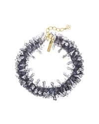 Oscar de la Renta - Metallic Beaded Collar Necklace - Lyst