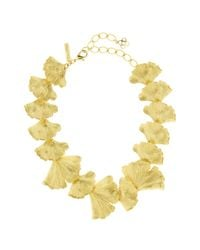 Oscar de la Renta - Multicolor Ginkgo Leaf Necklace - Lyst
