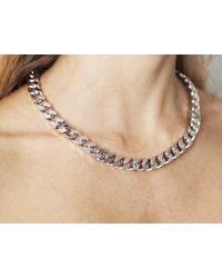 Maria Francesca Pepe | Metallic Chunky Silver Chain | Lyst