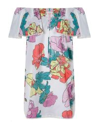 6 Shore Road By Pooja - White South Bay Linen Cover Up Ashbury Poppies Ivory - Lyst