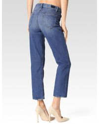 PAIGE | Blue High Rise Sarah Straight for Men | Lyst