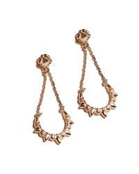 Pamela Love | Pink Chain Earrings | Lyst