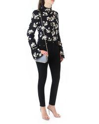 Proenza Schouler | Tunic Top Falling Flowers Print Black/ecru | Lyst