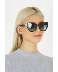 Fendi - Black Facets Sunglasses Bordeaux - Lyst