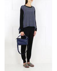 Stella McCartney - Windsor Tie Print Knit Jumper Black - Lyst