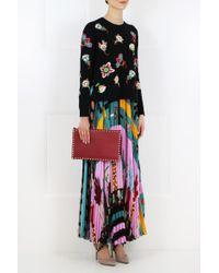 Valentino - Pop Flower Knit Black - Lyst