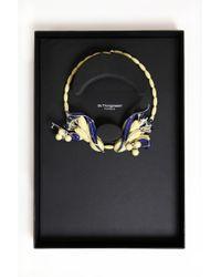EK Thongprasert - Silicone Flower Enamel Necklace Green Flame/denim Blue/silver - Lyst