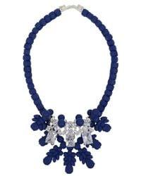EK Thongprasert | Silicone Three Jewel Neckpiece Dark Blue/white Crystals | Lyst