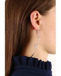 Jennifer Fisher | Metallic Pair Long Loop Earrings Silver | Lyst