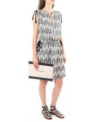 Isabel Marant - Multicolor Galise Dress Jacquard Print Ecru - Lyst