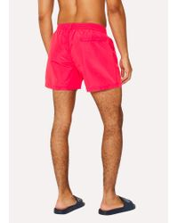 Paul Smith - Pink Short De Bain Homme Rose Fluorescent for Men - Lyst