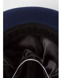Paul Smith - Multicolor Men's Bi-colour Burgundy And Navy Wool Trilby Hat for Men - Lyst