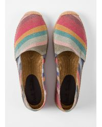 Paul Smith - Metallic Silver Leather 'Danny' Loafers - Lyst