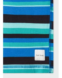 Paul Smith - Blue Short Homme À Rayures Bleues Et Vertes En Jersey De Coton for Men - Lyst