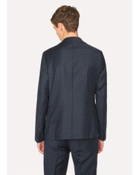Paul Smith - Blue Mid-fit Navy Checkerboard-cross Jacquard Suit for Men - Lyst