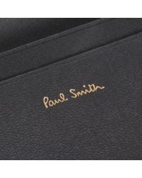 Paul Smith - Multicolor No.9 - Slate Grey Leather Credit Card Wallet - Lyst
