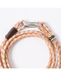 Paul Smith - Brown Men's Light And Dark Taupe Leather Wrap Bracelet - Lyst