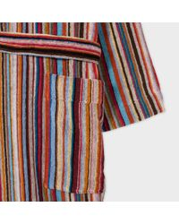 Paul Smith - Multicolor Men's Signature Striped Towelling Dressing Gown for Men - Lyst