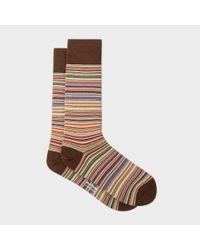 Paul Smith | Multicolor Men's Narrow Signature Stripe Socks for Men | Lyst